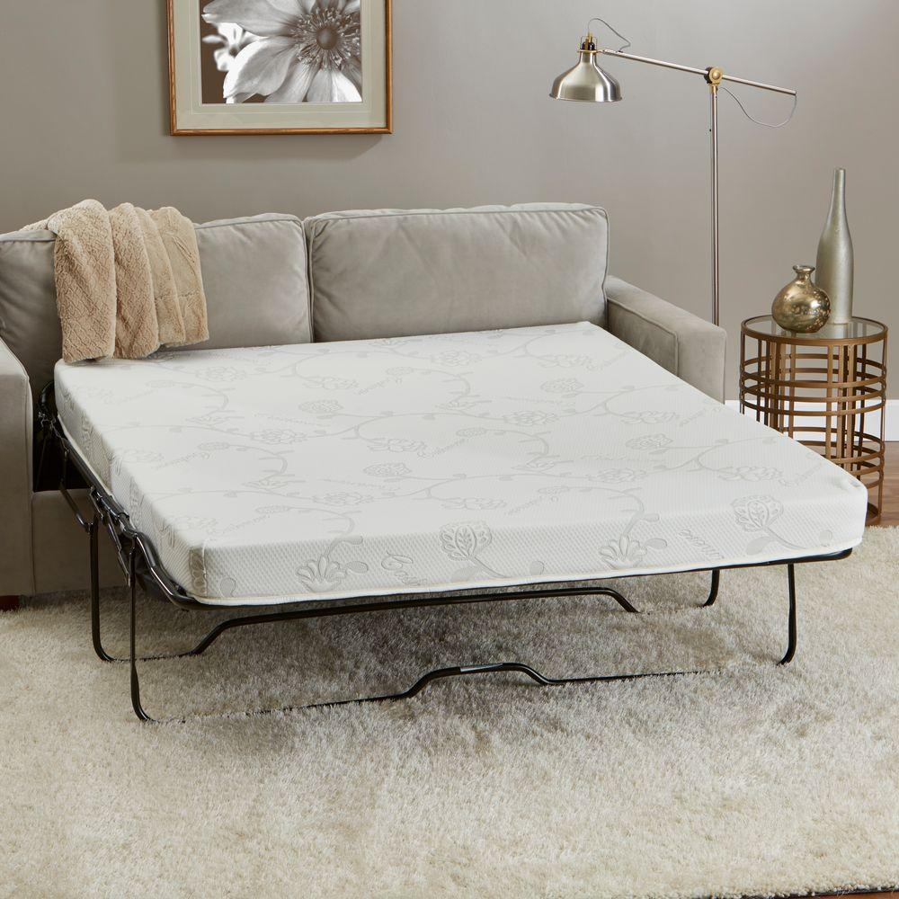 innerspace luxury products 58 in. w x 72 in. l queen-size memory
