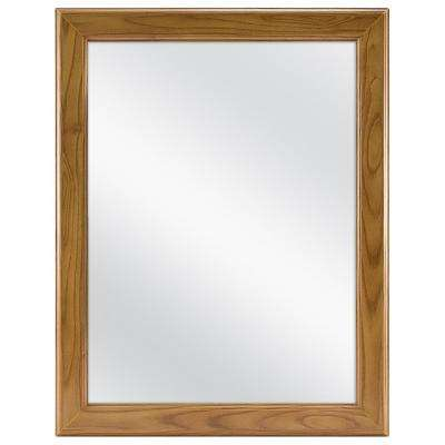15-1/8 in. W x 19-1/4 in. H Framed Recessed or Surface-Mount Bathroom Medicine Cabinet in Oak