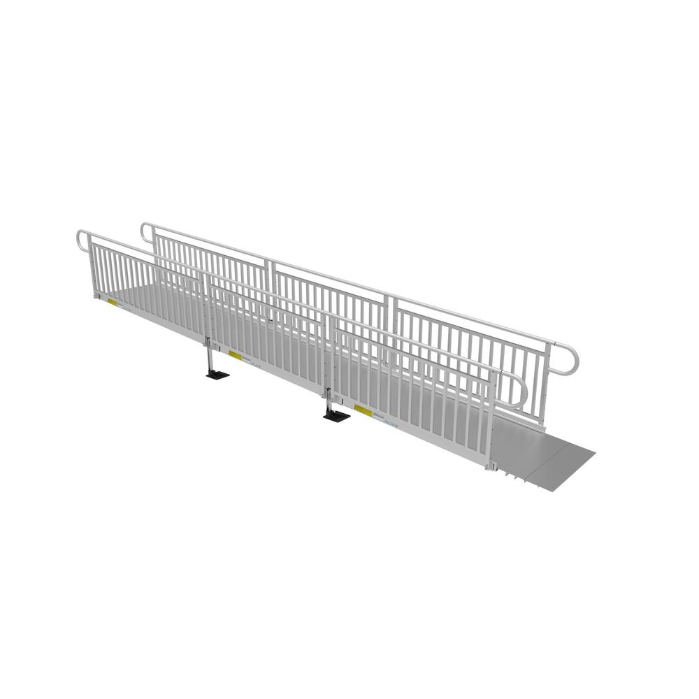 20 ft. Solid Surface Ramp Kit with Vertical Pickets
