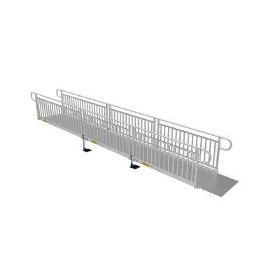 PATHWAY 3G 20 ft. Ramp Kit with Solid Surface Tread and Vertical Picket Handrails