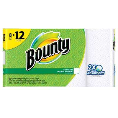White Paper Towels (8 Giant Rolls)