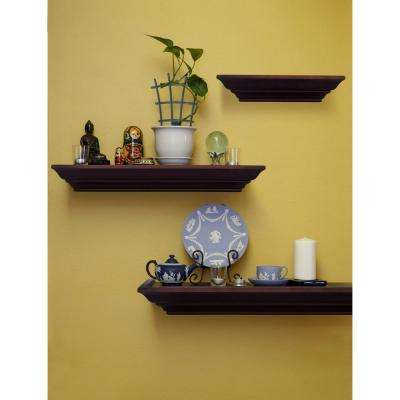 Walnut - Wood - Wall Mounted Shelves - Shelving - The Home Depot