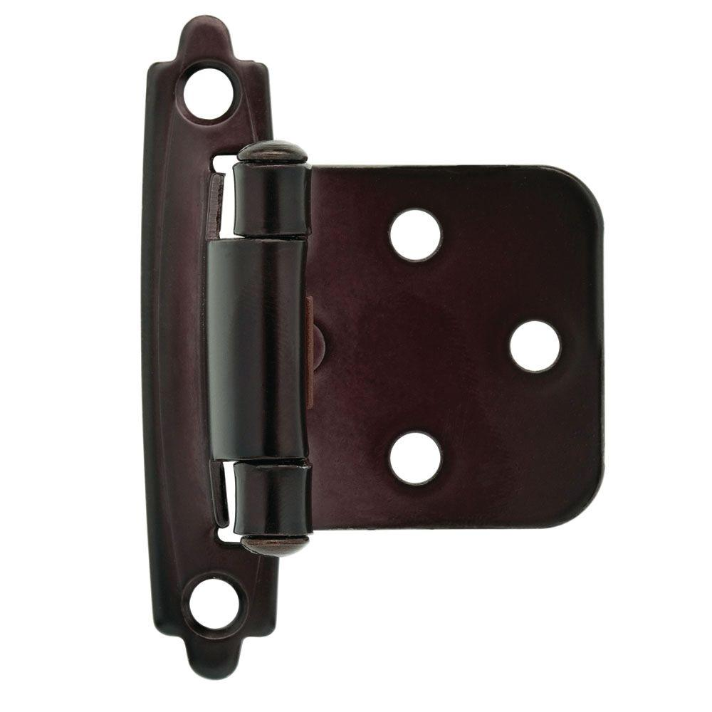 Oil Rubbed Bronze Self Closing Overlay Cabinet Hinge 1 Pair