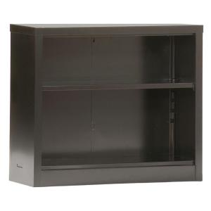 Deals on Sandusky 30 in. Black Metal 2-shelf Standard Bookcase