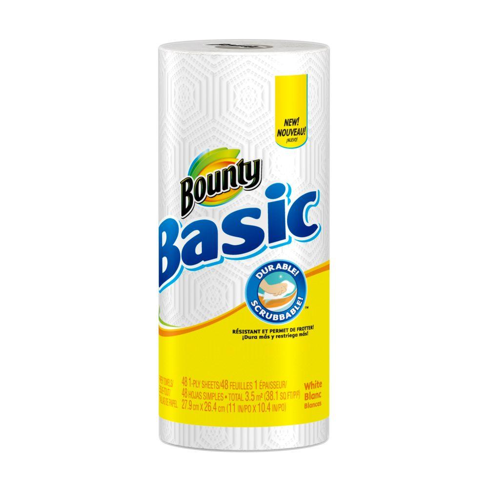 Bounty Basic White Paper Towels (1 Roll)
