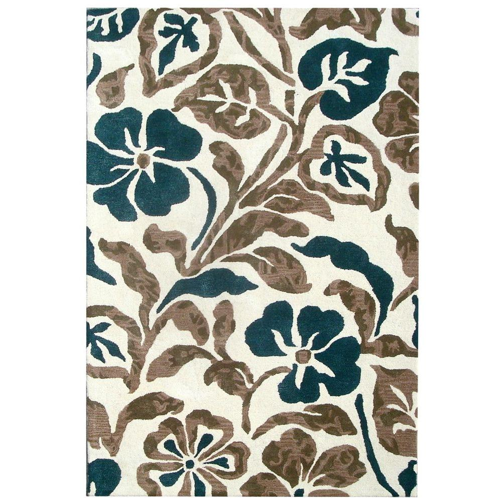 Soho Ivory/Multi 5 ft. x 8 ft. Area Rug