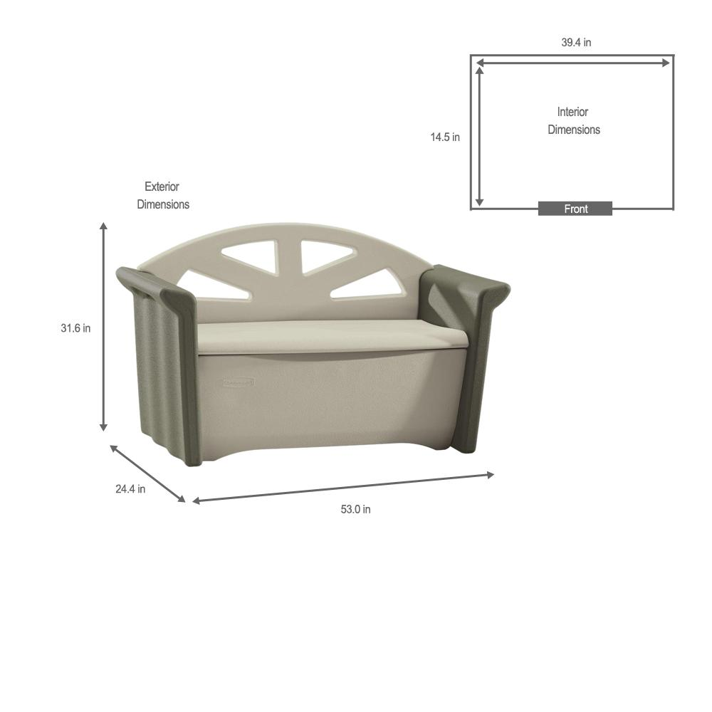 Fabulous Rubbermaid 32 Gal Resin Patio Storage Bench Gmtry Best Dining Table And Chair Ideas Images Gmtryco