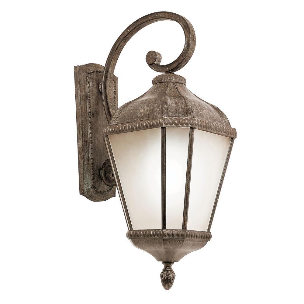 Stewart 3 Light Burnished Rust Outdoor Incandescent Wall Lantern