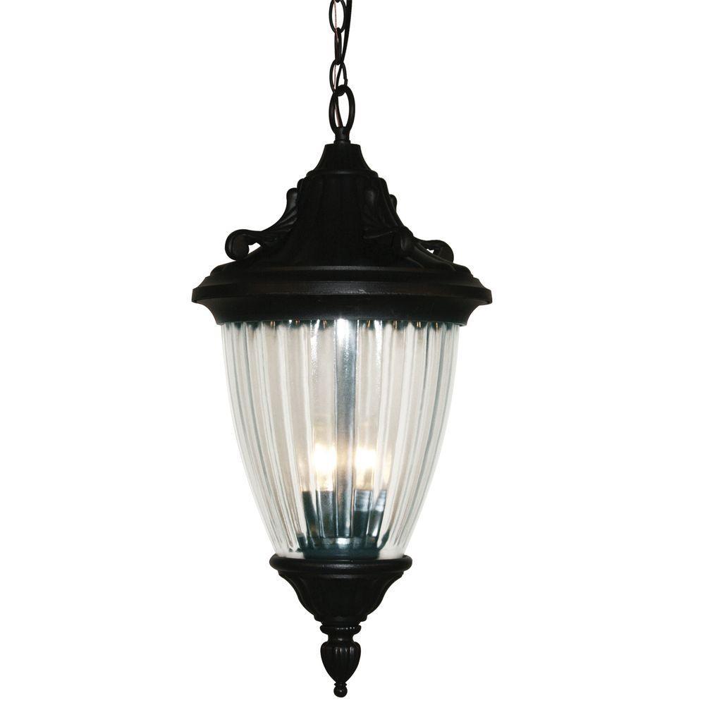 Tulen Lawrence 3-Light Outdoor Hanging Black Incandescent Pendant
