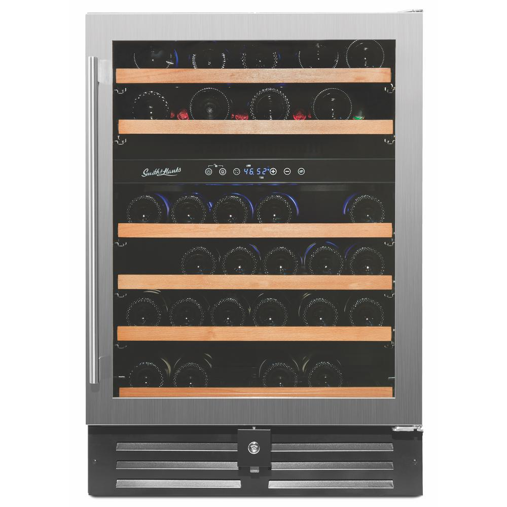 46-Bottle Deluxe Built in Wine Cooler in Stainless Steel
