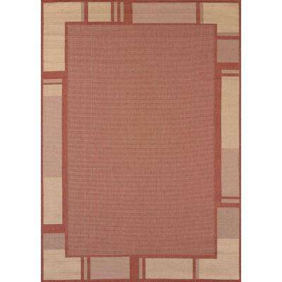Terrace Terracotta 3 ft. x 4 ft. Indoor/Outdoor Area Rug