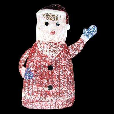 31 in. 100-Light Spun Glitter Santa Silhouette