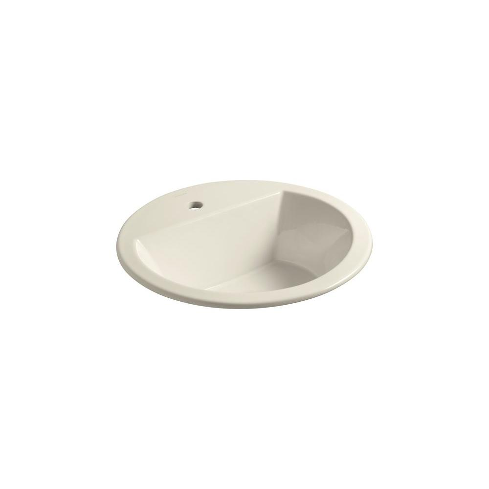 Kohler Bryant Round Self Rimming Bathroom Sink In Almond K