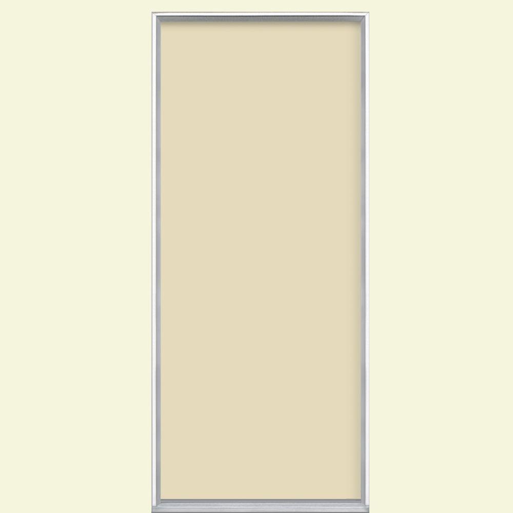 Masonite 32 In X 80 In Flush Golden Haystack Painted Steel Prehung Front Door No Brickmold
