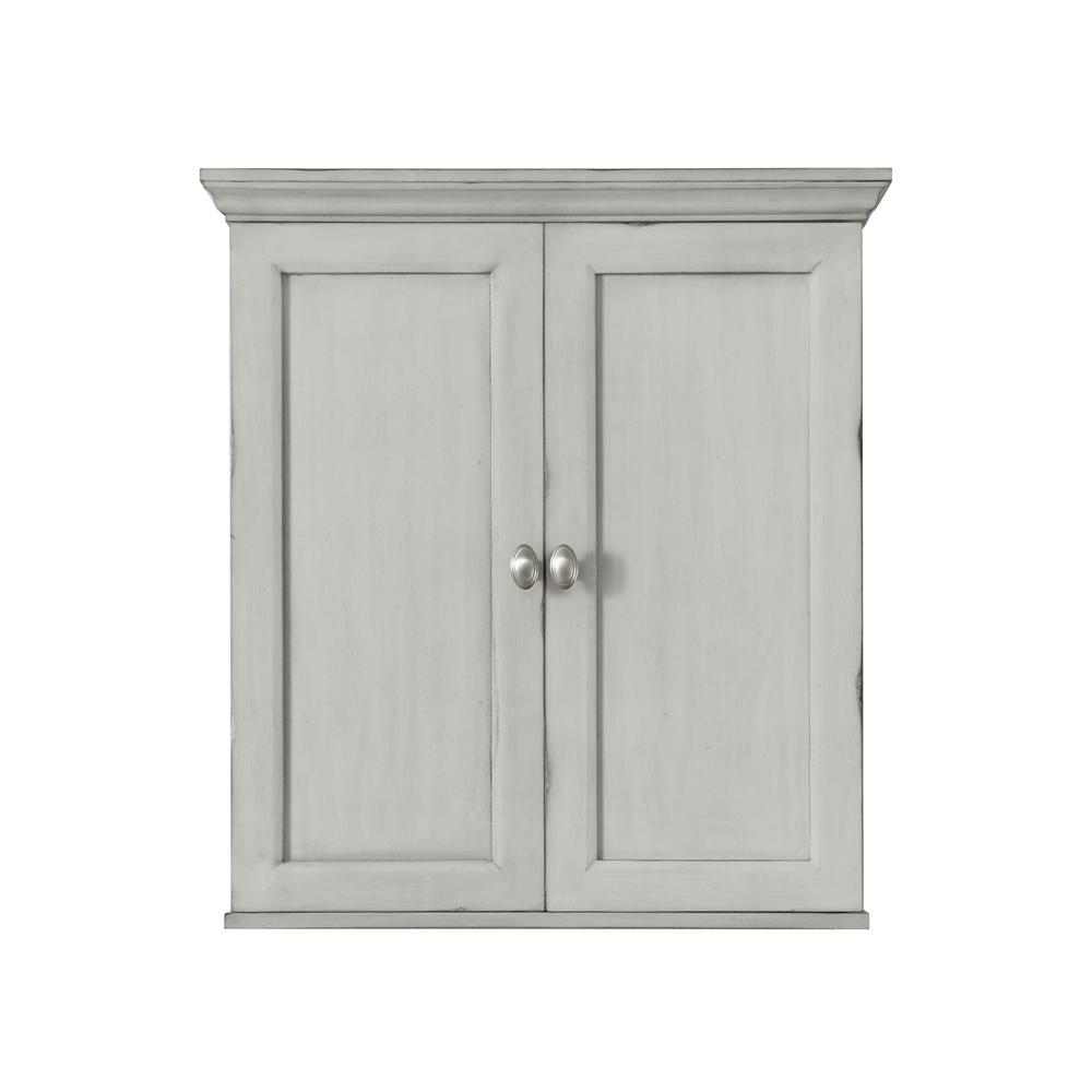 Teagen 25 in. W Wall Cabinet in Vintage Grey