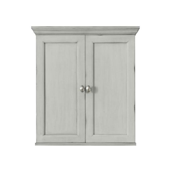 Teagen 25 in. W Wall Cabinet in Vintage Grey