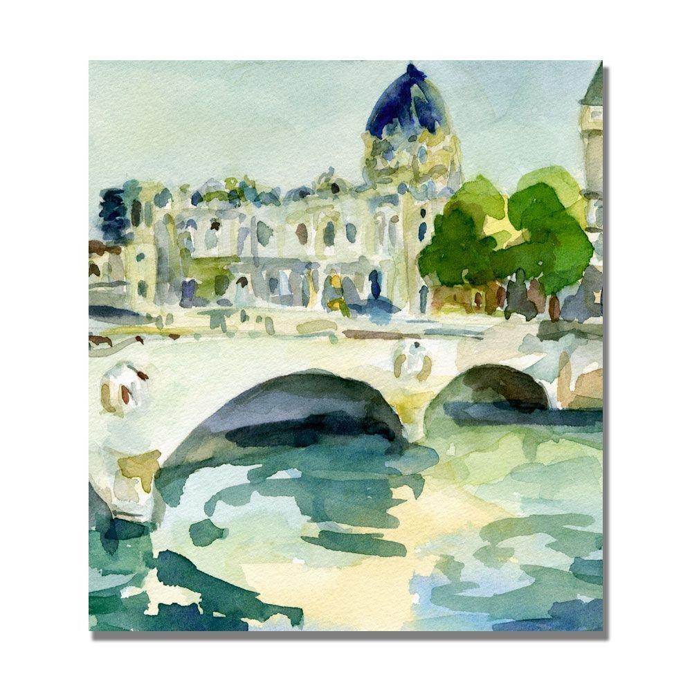 null 14 in. x 14 in. Pont De Change Paris Canvas Art-DISCONTINUED