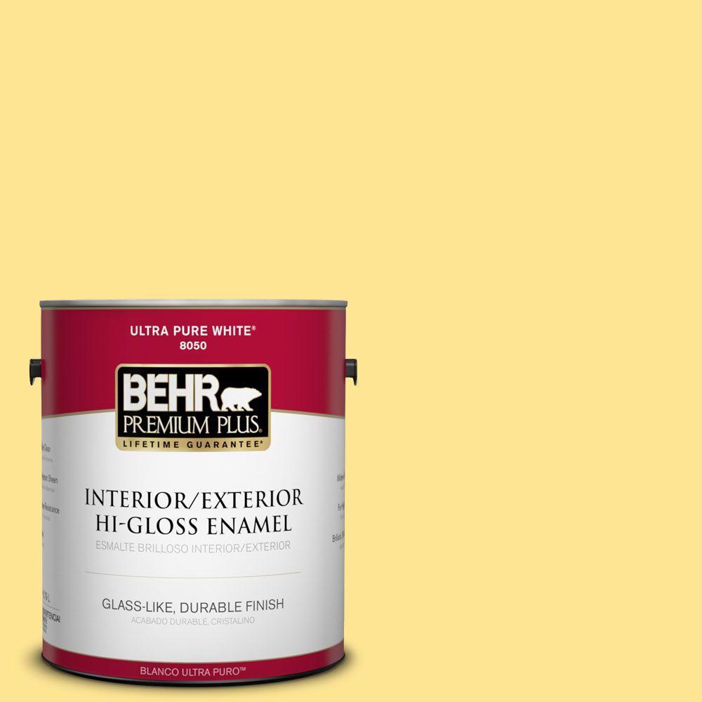 1-gal. #390B-4 Chilled Lemonade Hi-Gloss Enamel Interior/Exterior Paint