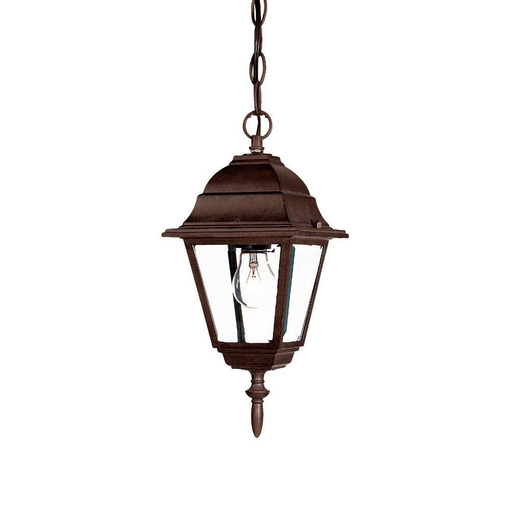 Acclaim Lighting Builder's Choice Collection 1-Light Burled Walnut Outdoor Hanging Lantern