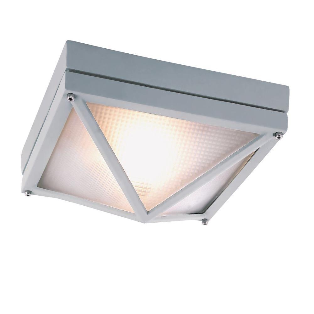 Exterior: Bel Air Lighting 1-Light Silver Indoor Diamond Hobnail