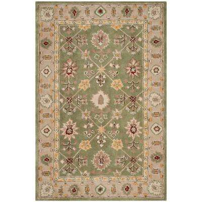 Total Performance Green/Ivory 4 ft. x 6 ft. Area Rug