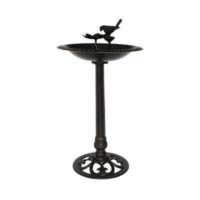 Fairmont Shiny Copper Aluminum and Iron Bird Bath