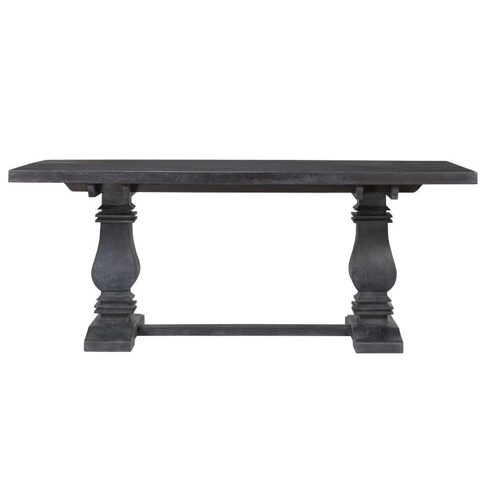 Aldridge Washed Black Rectangular Dining Table
