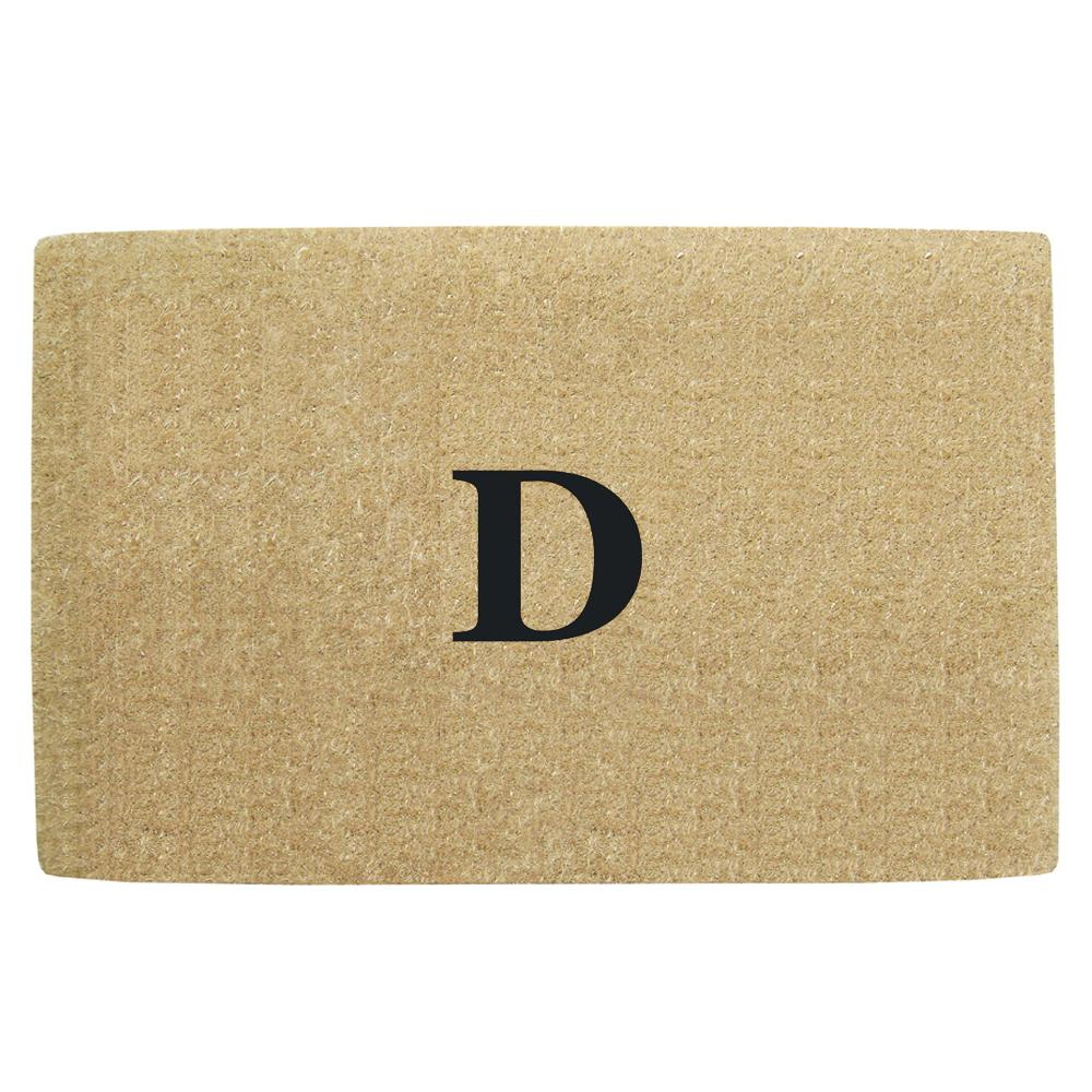No Border 22 in. x 36 in. Heavy Duty Coir Monogrammed