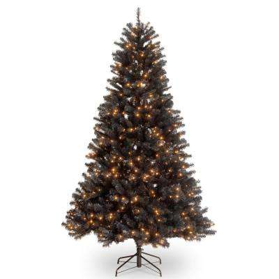 north valley black spruce hinged tree with 500 clear lights - Black Artificial Christmas Tree
