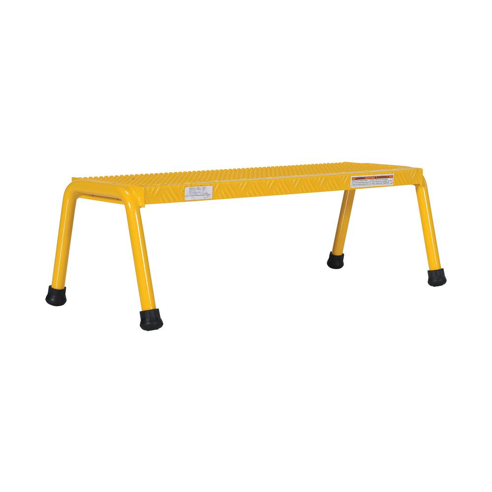 1-Step Yellow Aluminum Step Stand - Wide Welded