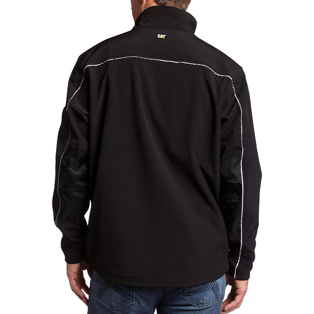 Caterpillar Soft Shell Mens Medium Black Polyesterspandex Water Resistant Jacket