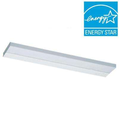 Undercabinet 2-Light Fluorescent White Task Light Fixture