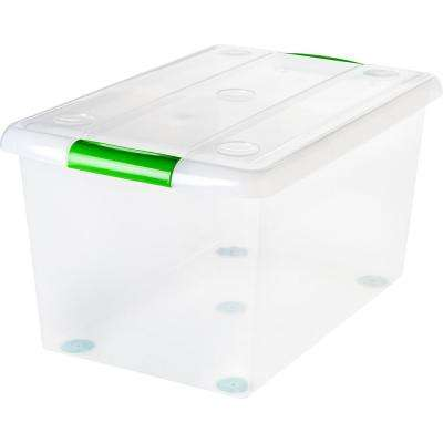 61 Qt. Store and Slide Storage Box in Clear