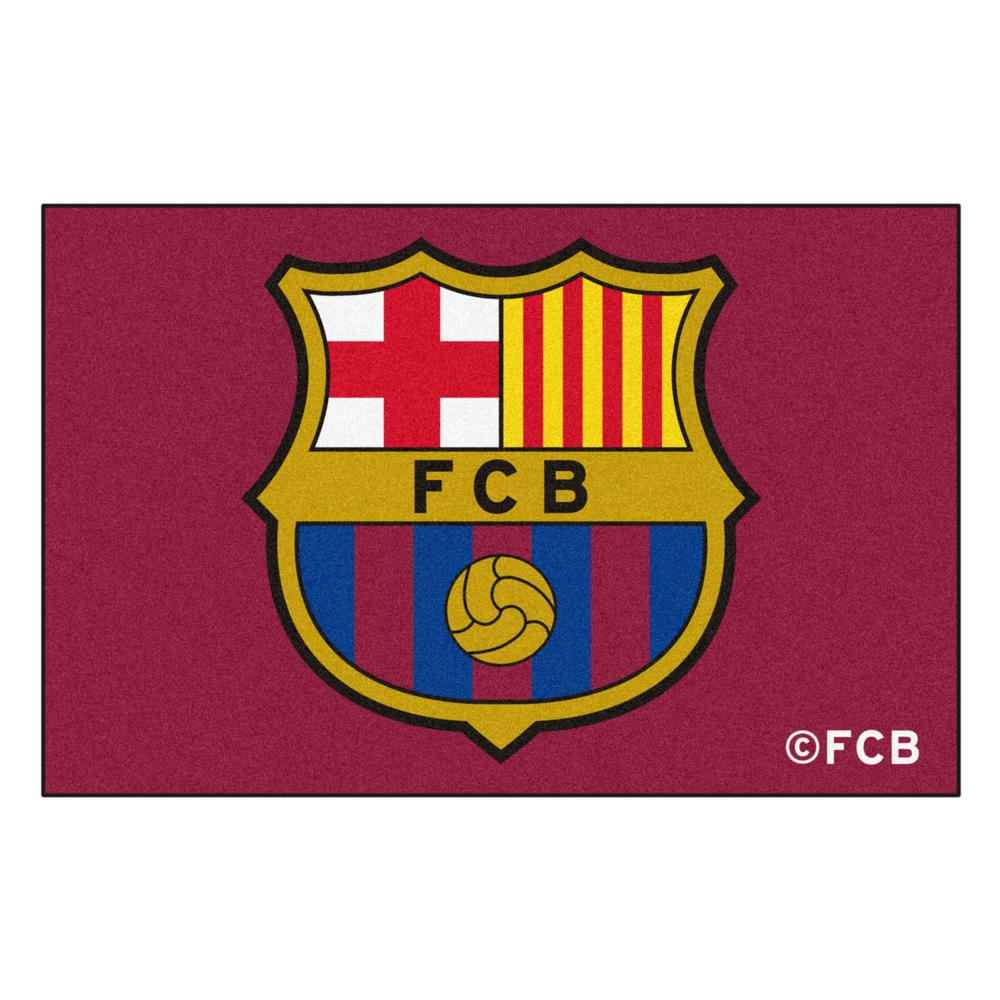 FC Barcelona Red 30 in. x 19 in. Rectangle Indoor Starter