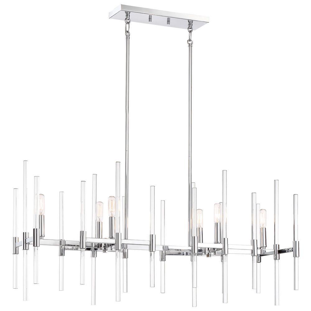 Pillar 6-Light Chrome Billiard Light
