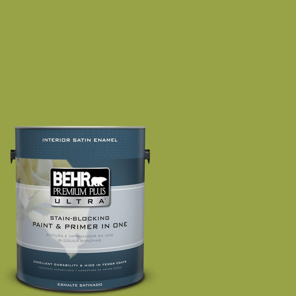 1 gal. #P360-6 Fresh Apple Satin Enamel Interior Paint