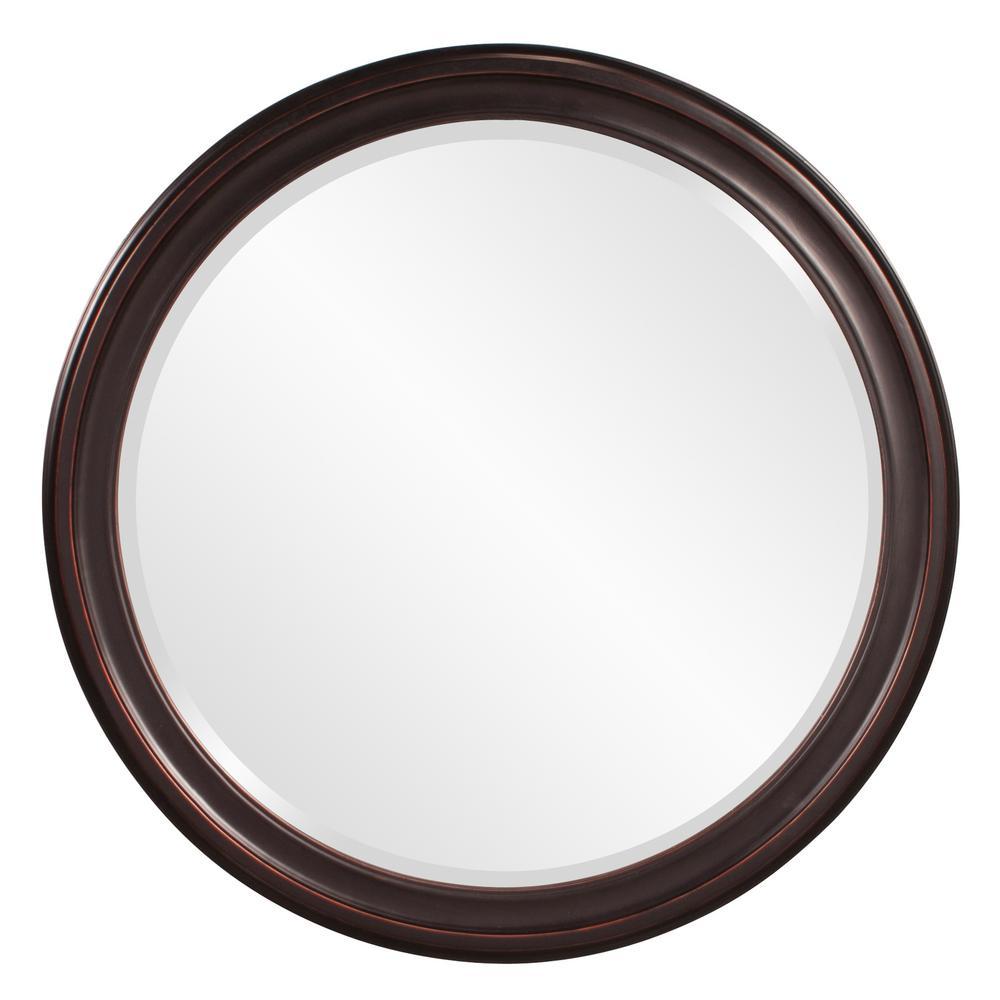 36 in. x 36 in. x 1 in. Oil Rubbed Vanity Framed Mirror