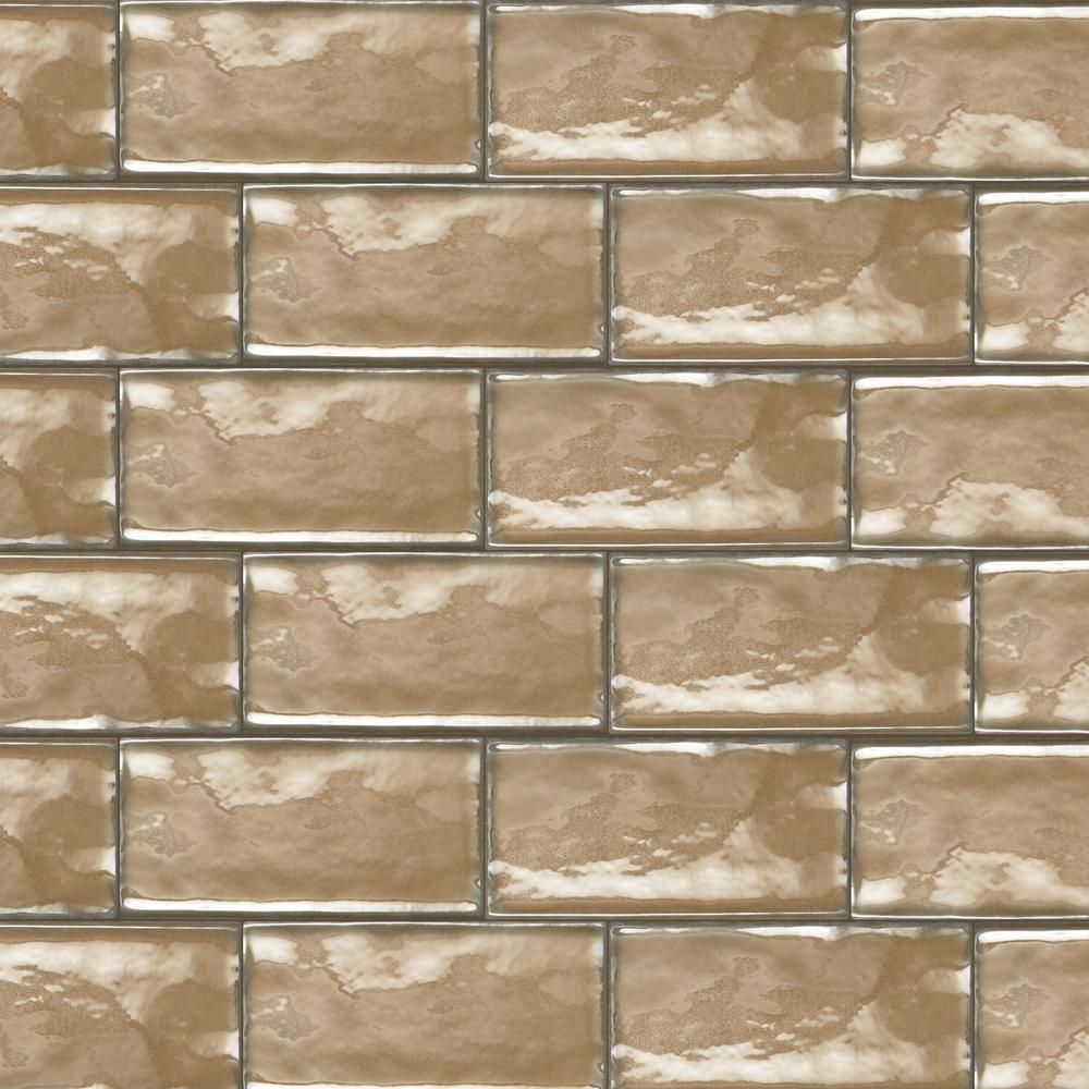 Daltile Structured Effects Balanced Taupe 3 in. x 6 in. Glazed Ceramic Wall Tile (12 sq. ft. / case)