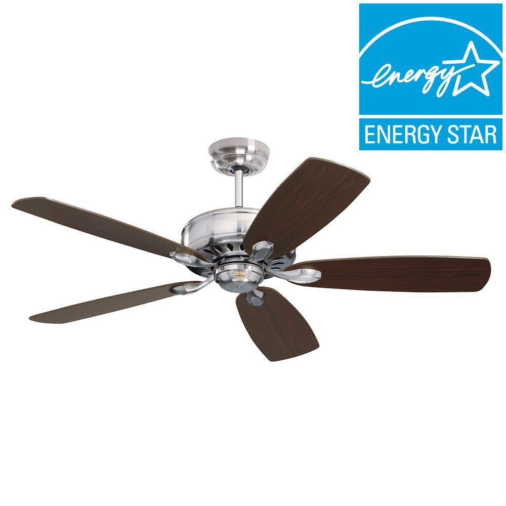 Illumine Zephyr 52 in. Indoor Brushed Steel Ceiling Fan