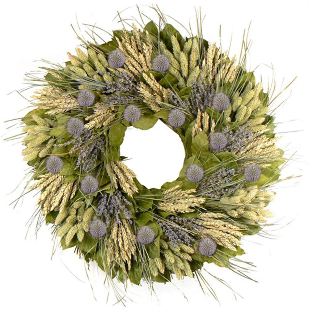 The Christmas Tree Company 22 in. Lavender Fields Premium Dried Floral Wreath-DISCONTINUED