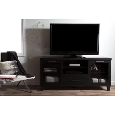 Adrian Black Oak Storage Entertainment Center