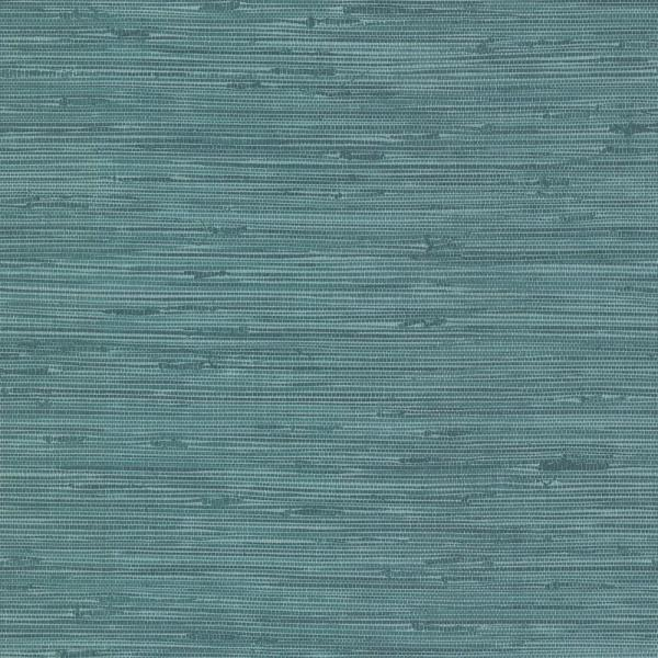 Brewster 8 in. x 10 in. Fiber Blue Weave Texture Wallpaper