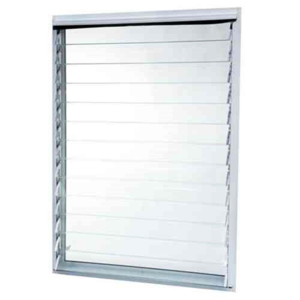 Tafco windows 35 in x in jalousie utility louver for Glass windows