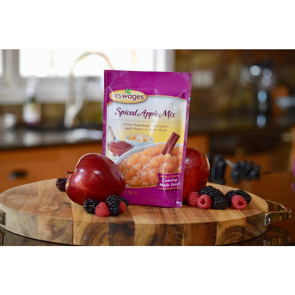 Mrs. Wages Spiced Apple Sauce Fruit Canning Mix (12-Pack)