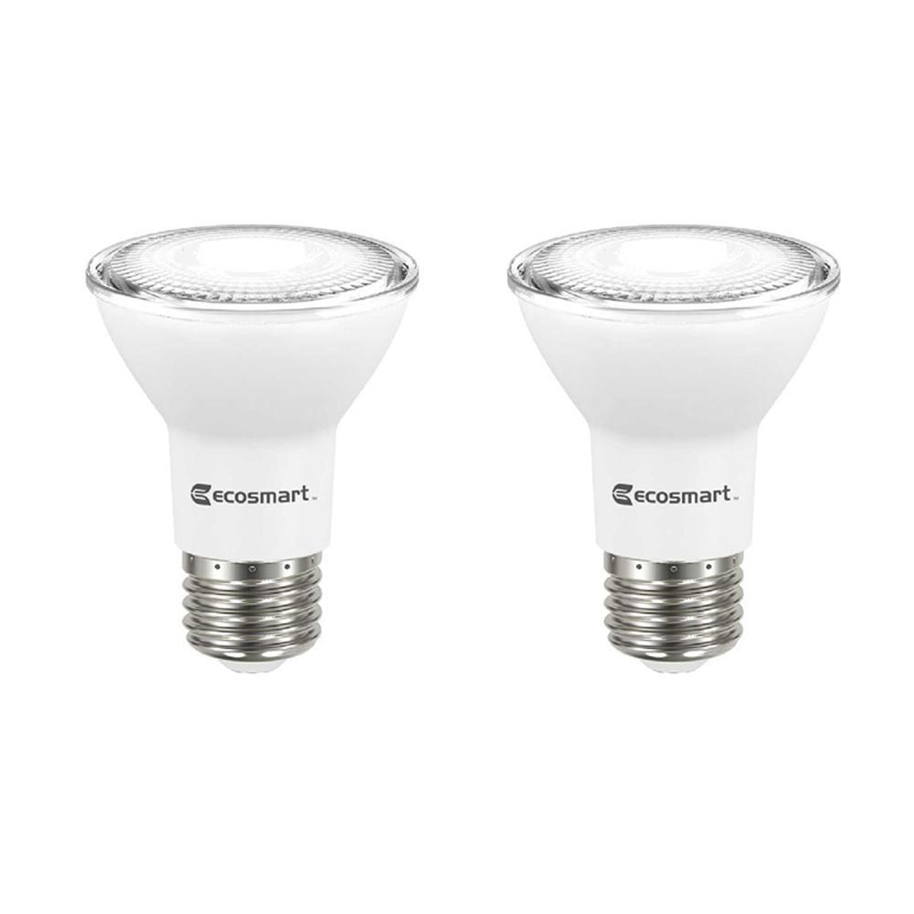Ecosmart 50 Watt Equivalent Par20 Dimmable Led Light Bulb Daylight