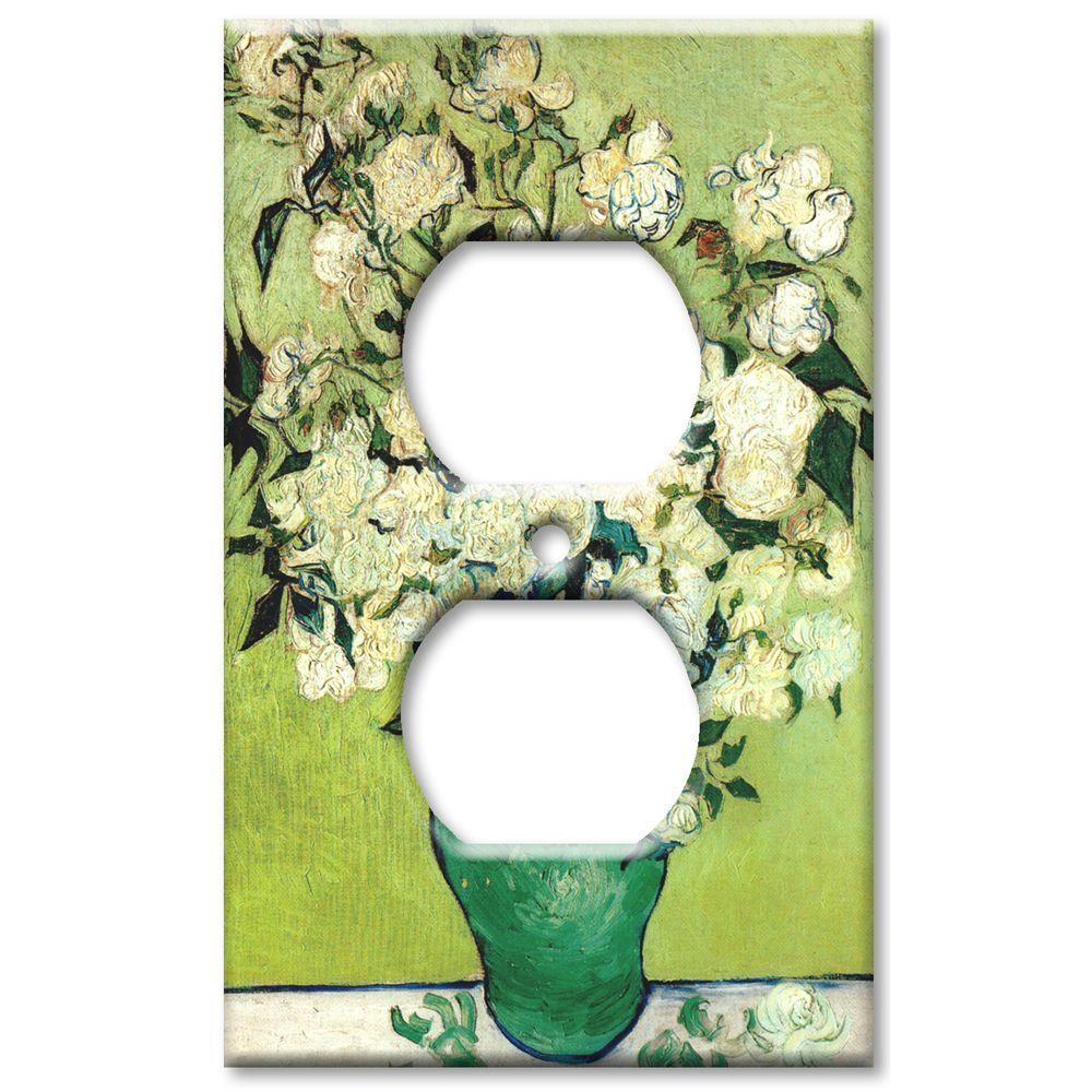 Art Plates Van Gogh Vase of Roses - Outlet Cover