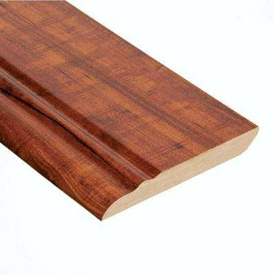 High Gloss Perry Hickory 12.7 mm Thick x 3-13/16 in. Wide x 94 in. Length Laminate Wall Base Molding