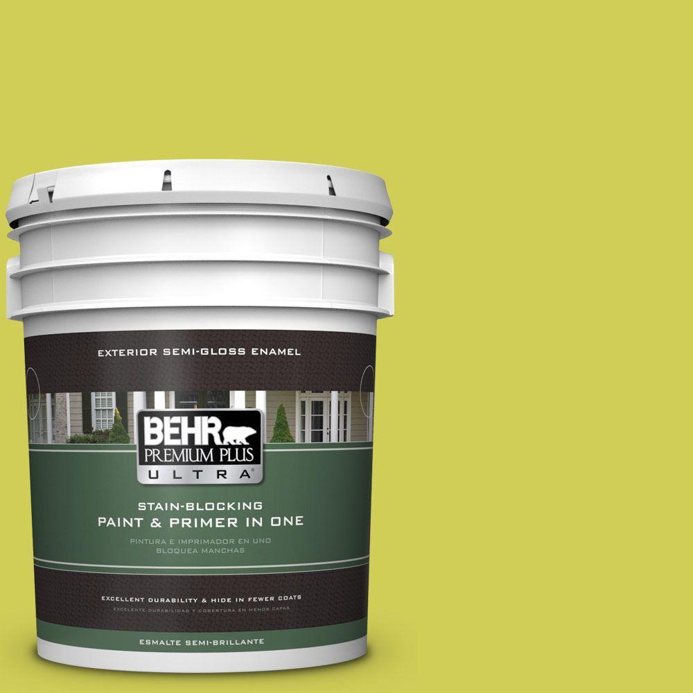 5-gal. #400B-5 Grape Green Semi-Gloss Enamel Exterior Paint