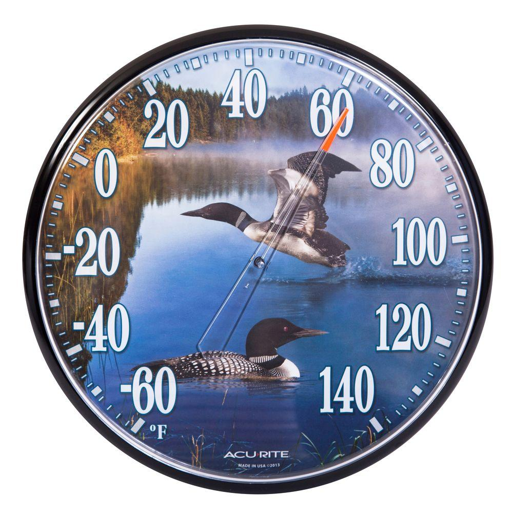 AcuRite 12.5 in. Loons Analog Thermometer