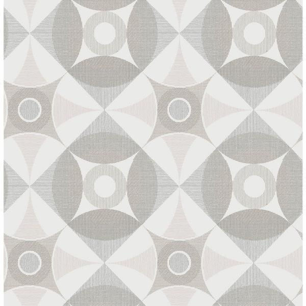A-Street 8 in. x 10 in. Ellis Light Brown Geometric Wallpaper